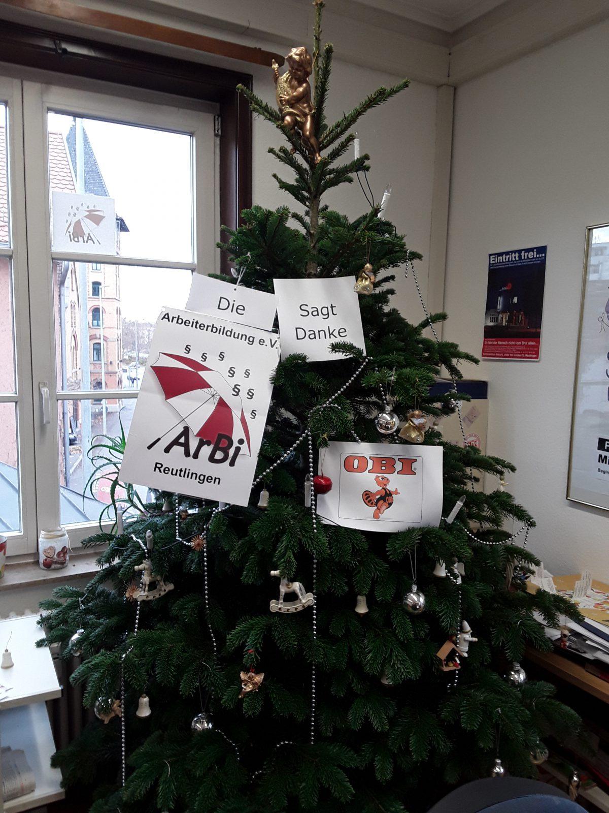 Obi Weihnachtsbaum.Vielen Dank An Obi Pfullingen Für Die Weihnachtsbaum Spende